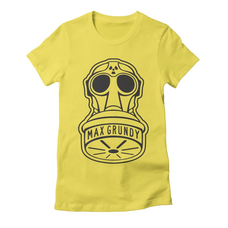 Gas Mask (Black) Women's T-Shirt by Max Grundy Design's Artist Shop
