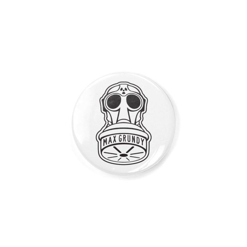 Gas Mask (Black) Accessories Button by Max Grundy Design's Artist Shop