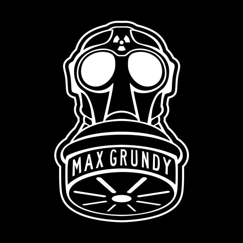 Gas Mask (white) Accessories Bag by Max Grundy Design's Artist Shop