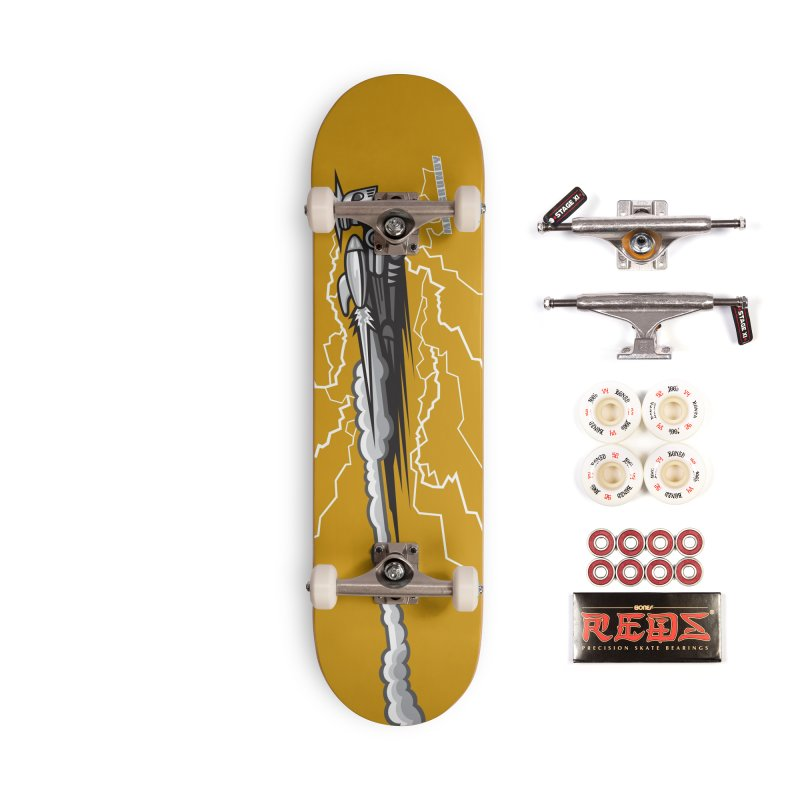 LIGHTNING BOT skateboard Accessories Complete - Pro Skateboard by Max Grundy Design's Artist Shop
