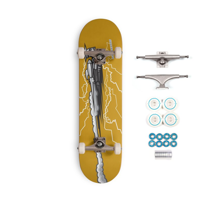 LIGHTNING BOT skateboard Accessories Complete - Basic Skateboard by Max Grundy Design's Artist Shop