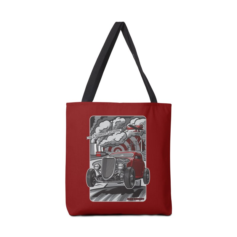 LIVE FREE OR DIE Accessories Bag by Max Grundy Design's Artist Shop