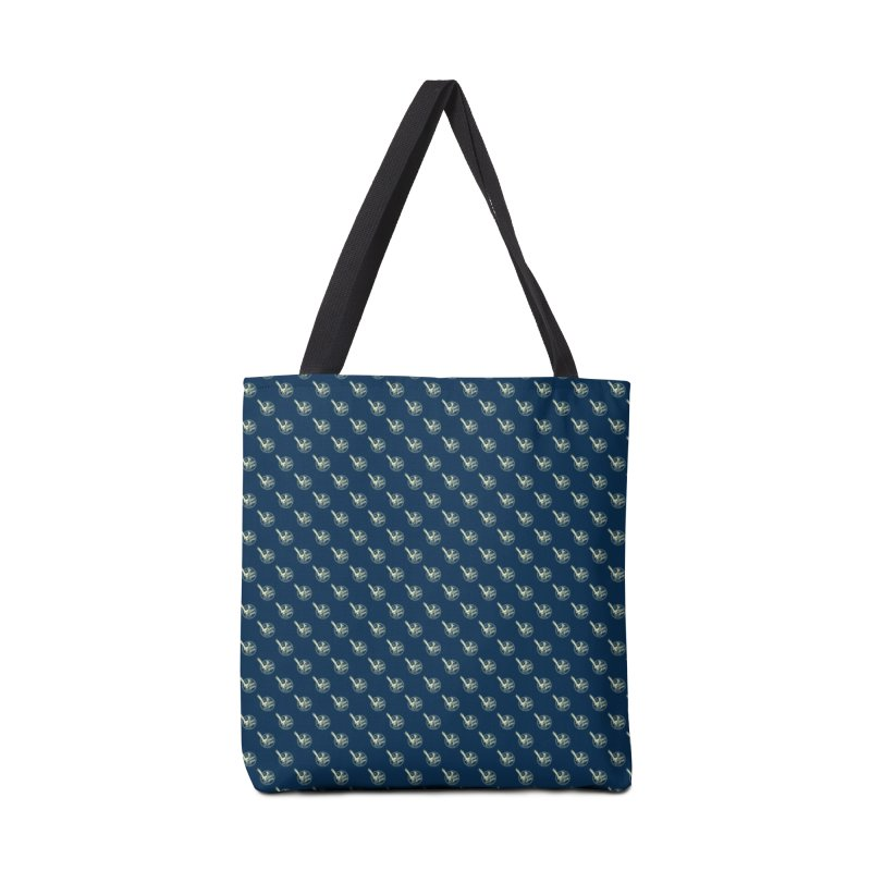 ATOMIC ACRES CREAM ON NAVY PATTERN Accessories Bag by Max Grundy Design's Artist Shop