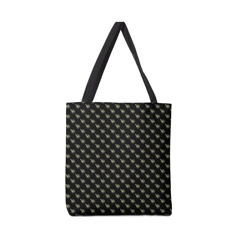 ATOMIC ACRES CREAM ON BLACK PATTERN Accessories Bag by Max Grundy Design's Artist Shop