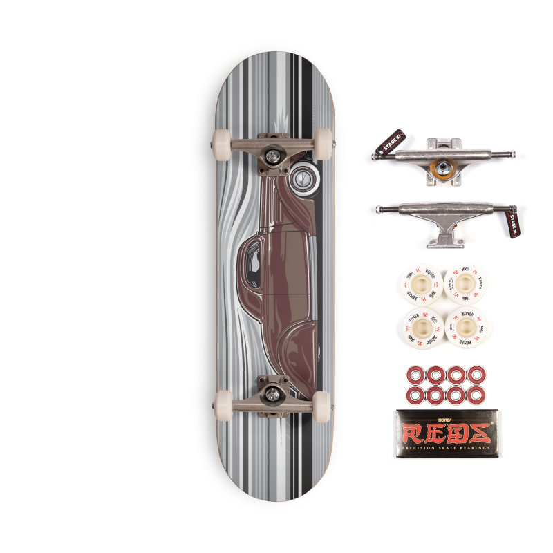 Streamline '36 skateboard deck Accessories Complete - Pro Skateboard by Max Grundy Design's Artist Shop