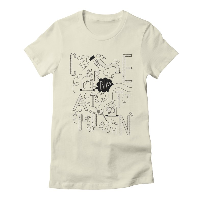 Cera Women's Fitted T-Shirt by maximefrancout's Artist Shop