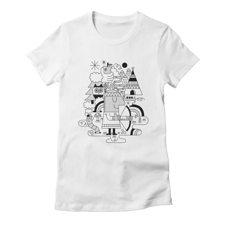 Nature Women's Fitted T-Shirt by maximefrancout's Artist Shop