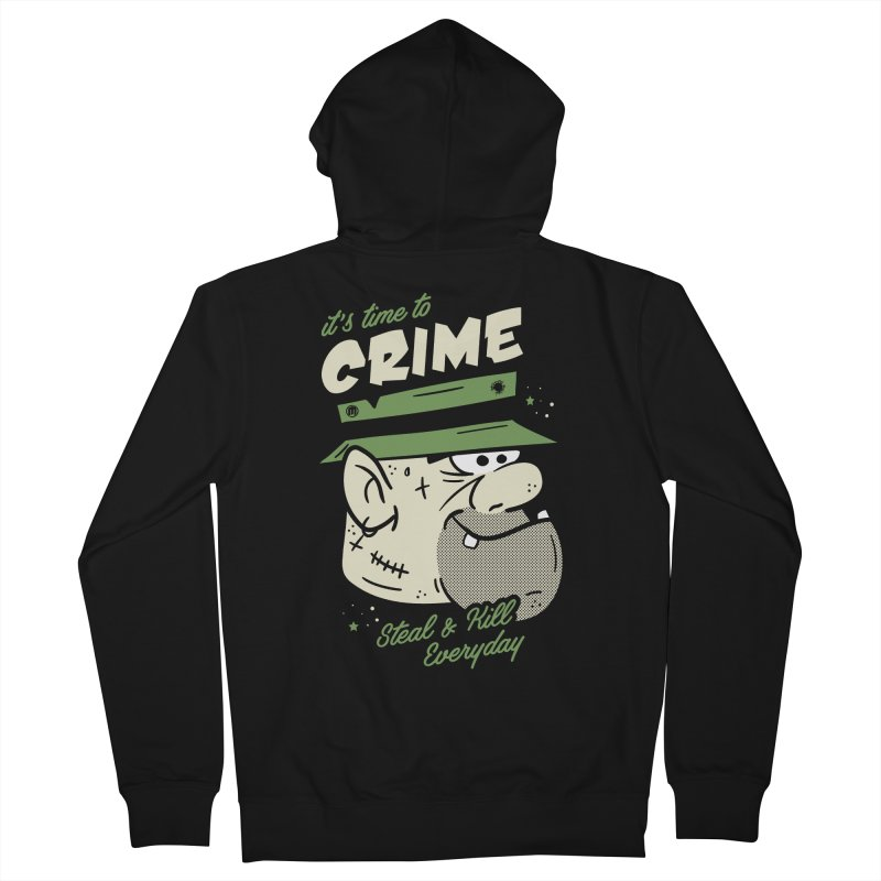 Time to Crime Men's French Terry Zip-Up Hoody by MAXIMOGRAFICO — shop