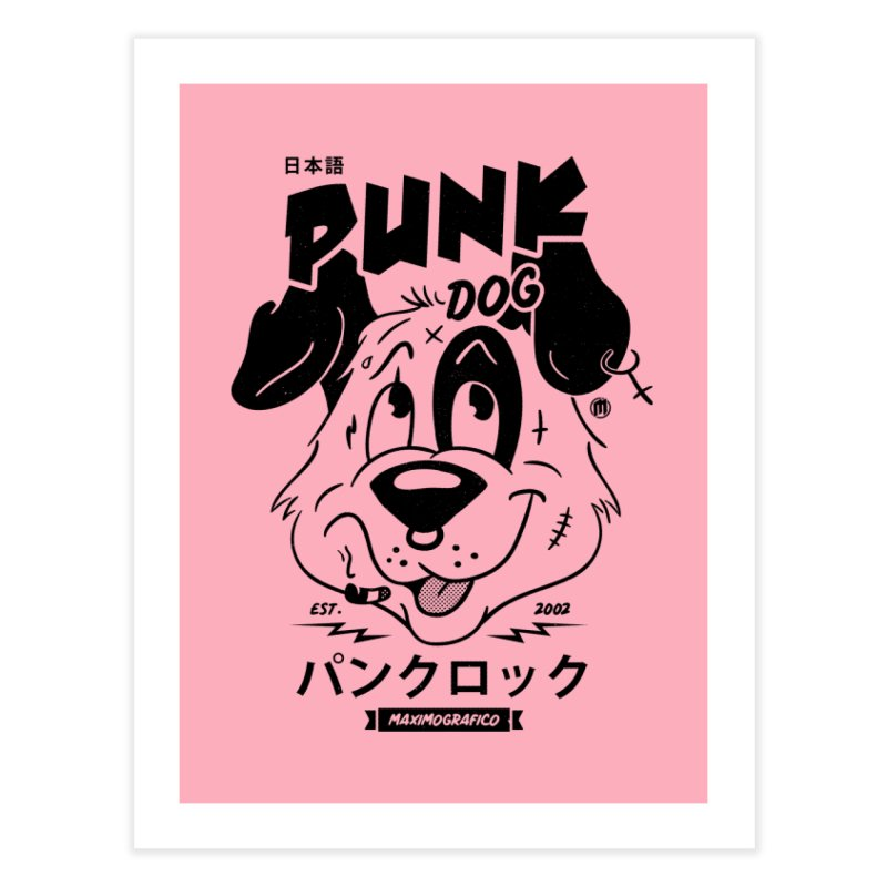 Punk Dog Decor Fine Art Print by MAXIMOGRAFICO Ltd. Collection