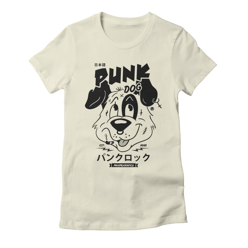Punk Dog Women's T-Shirt by MAXIMOGRAFICO Ltd. Collection