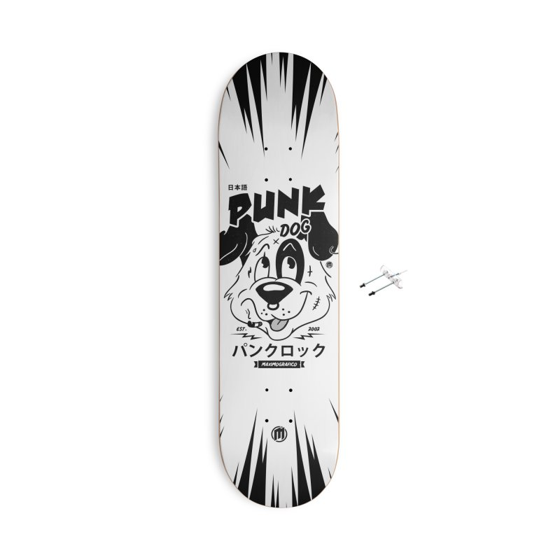 Punk Dog Accessories With Hanging Hardware Skateboard by MAXIMOGRAFICO — shop