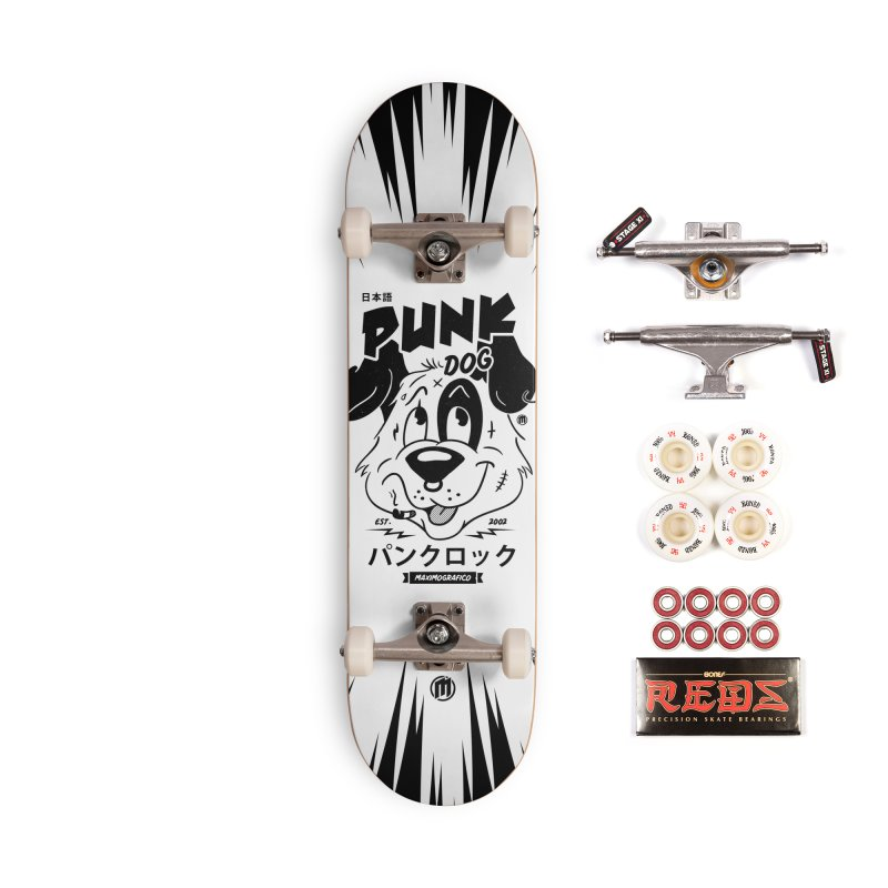 Punk Dog Accessories Complete - Pro Skateboard by MAXIMOGRAFICO — shop
