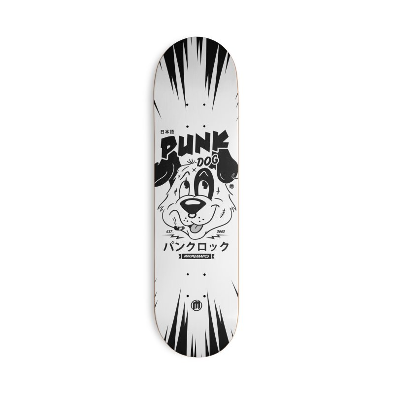 Punk Dog Accessories Deck Only Skateboard by MAXIMOGRAFICO — shop