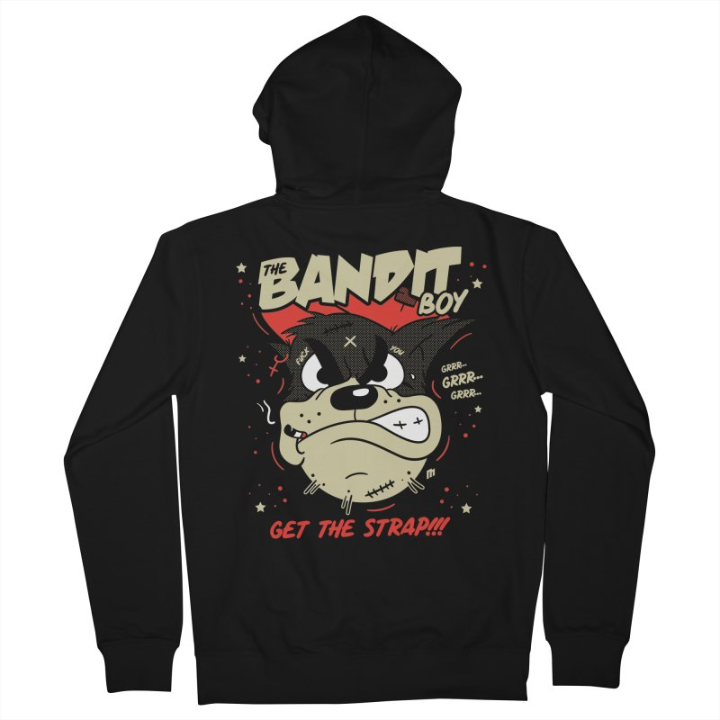 Bandit Boy Men's French Terry Zip-Up Hoody by MAXIMOGRAFICO — shop
