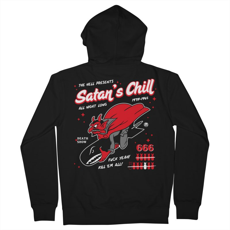 Satan's Chill Men's French Terry Zip-Up Hoody by MAXIMOGRAFICO — shop