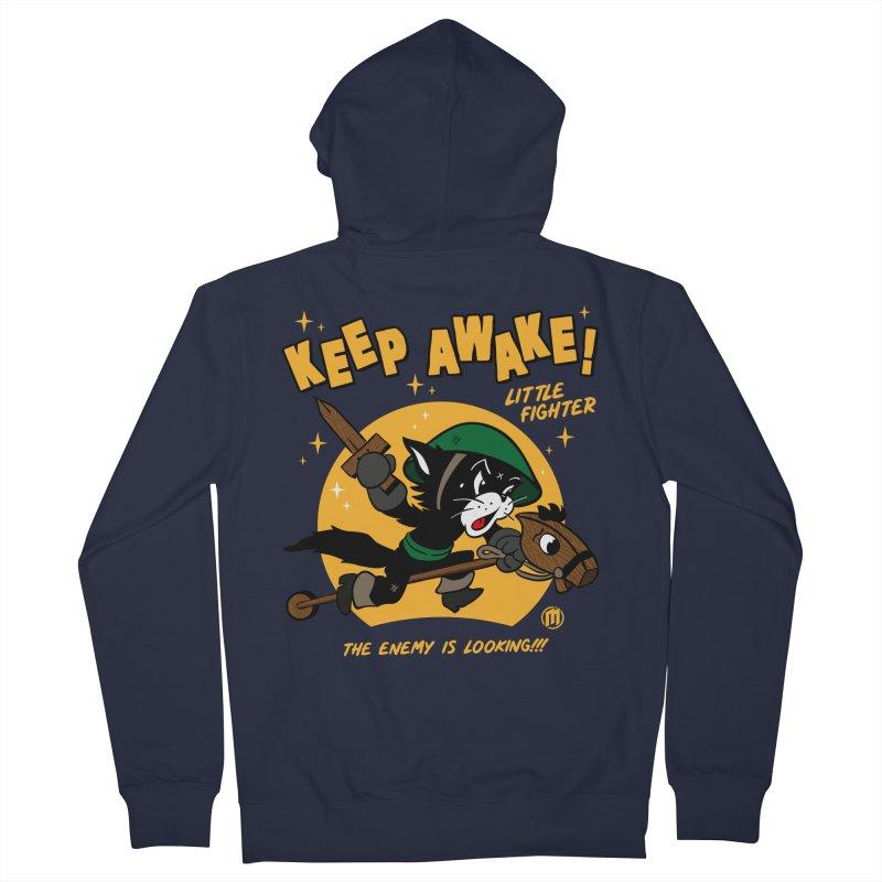 Keep Awake! Men's French Terry Zip-Up Hoody by MAXIMOGRAFICO — shop