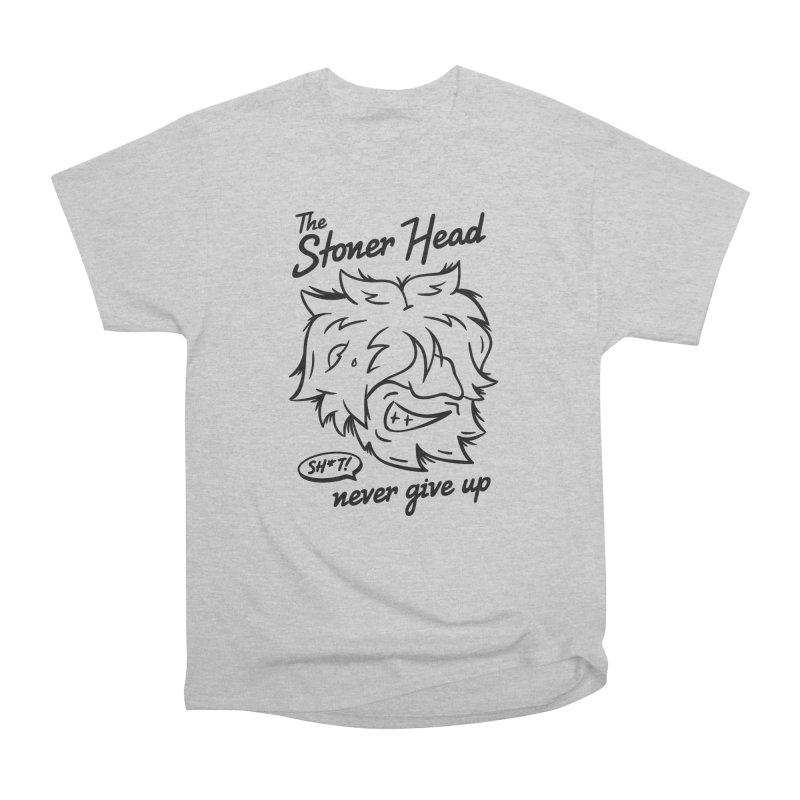 Stoner Head in Men's Heavyweight T-Shirt Heather Grey by MAXIMOGRAFICO — shop