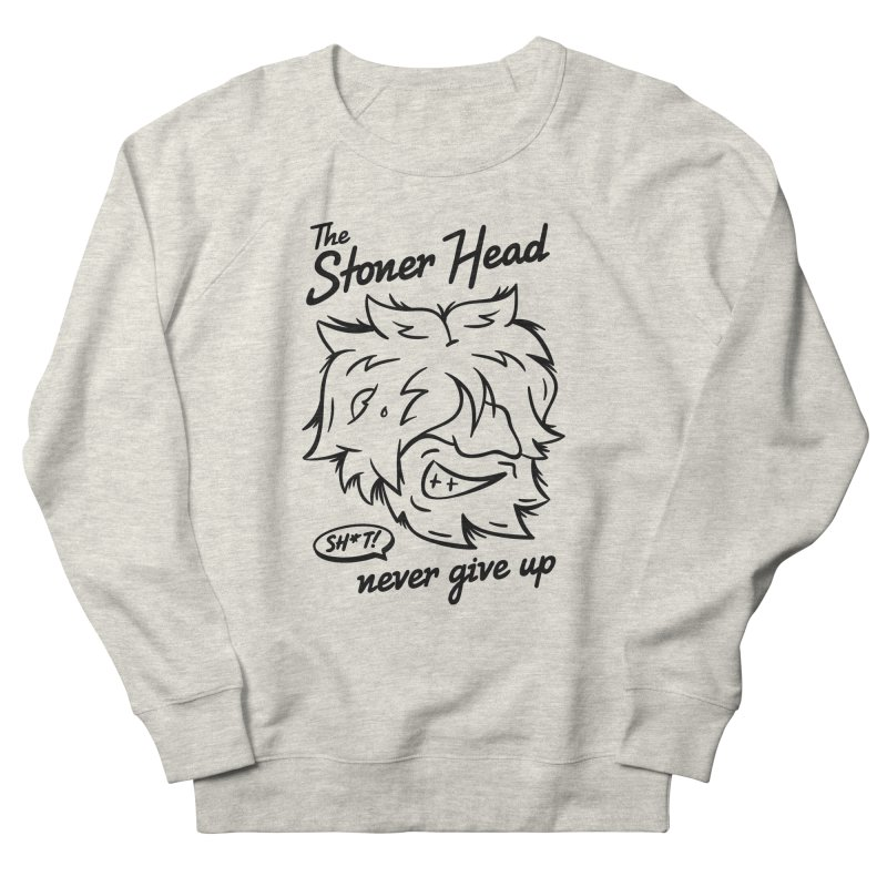 Stoner Head Women's French Terry Sweatshirt by MAXIMOGRAFICO — shop