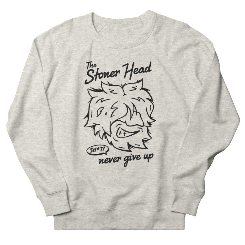 Stoner Head Men's French Terry Sweatshirt by MAXIMOGRAFICO — shop