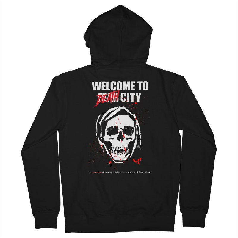 Death City in Men's French Terry Zip-Up Hoody Black by MAXIMOGRAFICO — shop