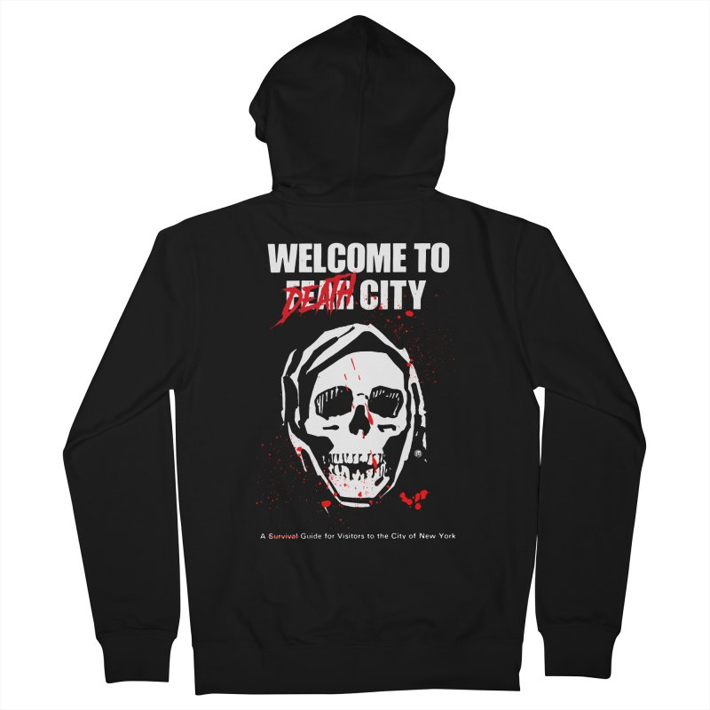 Death City Men's French Terry Zip-Up Hoody by MAXIMOGRAFICO — shop