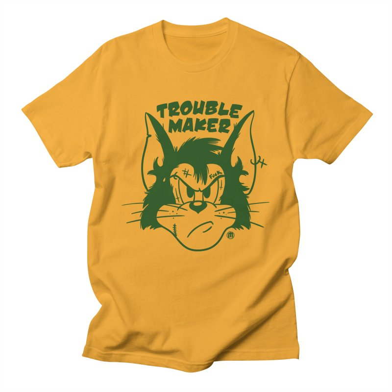 Trouble Maker in Men's Regular T-Shirt Gold by MAXIMOGRAFICO — shop
