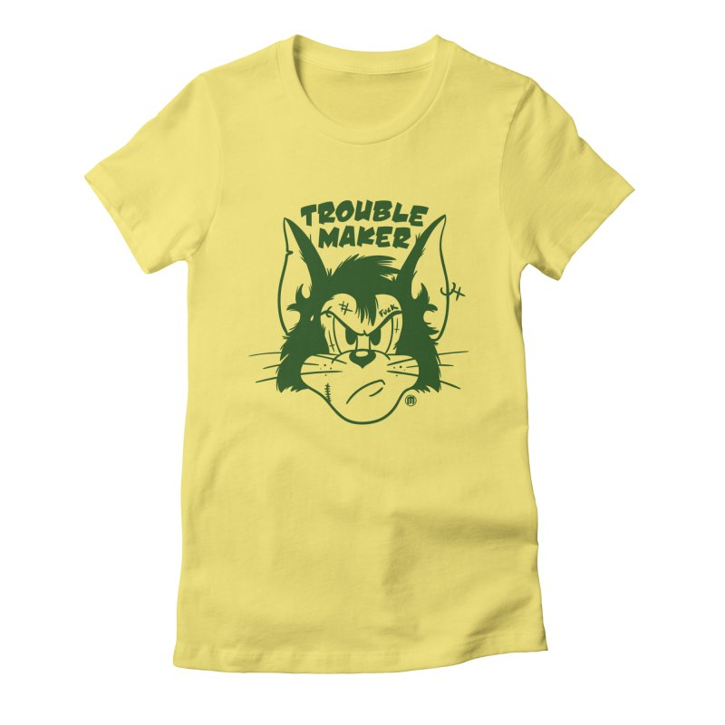 Trouble Maker Women's Fitted T-Shirt by MAXIMOGRAFICO — shop