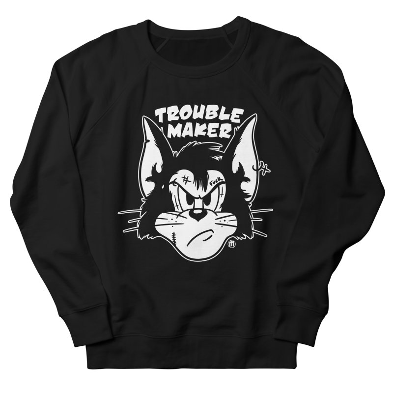 Trouble Maker Black Women's French Terry Sweatshirt by MAXIMOGRAFICO — shop