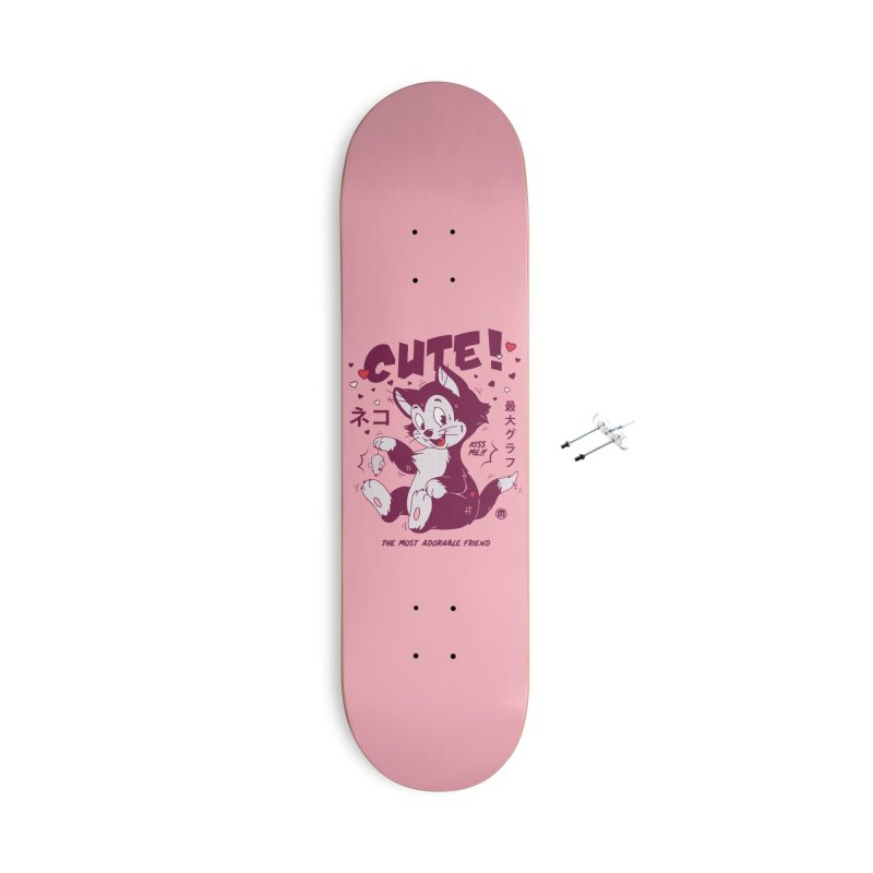 Cute Cat Accessories With Hanging Hardware Skateboard by MAXIMOGRAFICO — shop