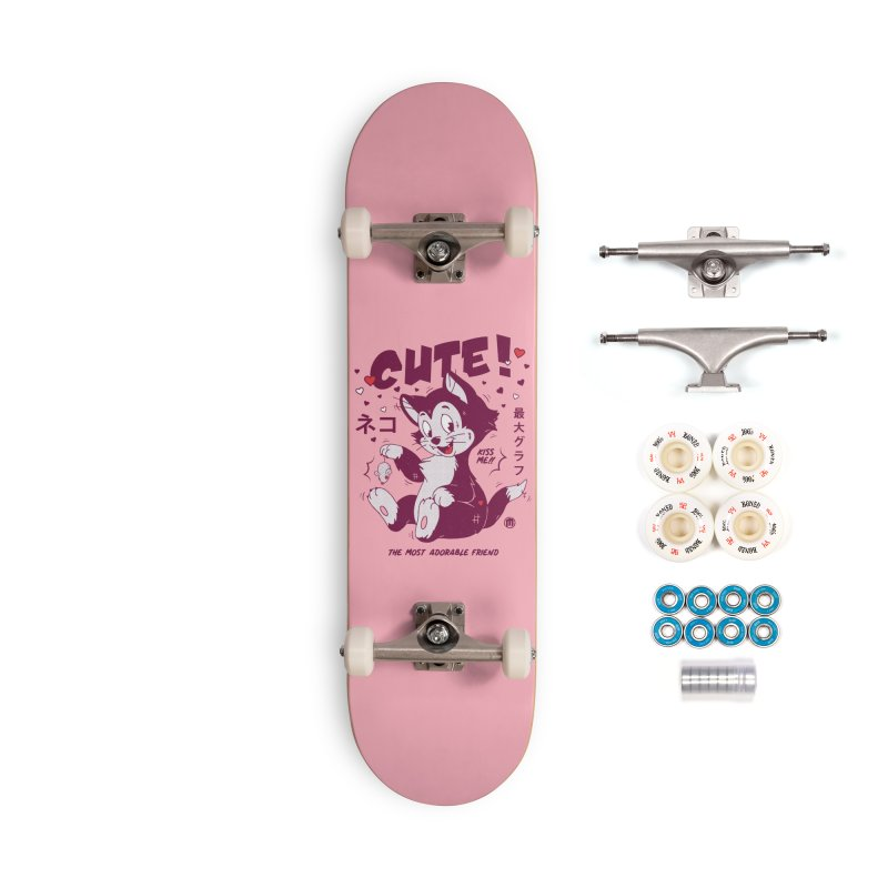 Cute Cat Accessories Complete - Premium Skateboard by MAXIMOGRAFICO — shop