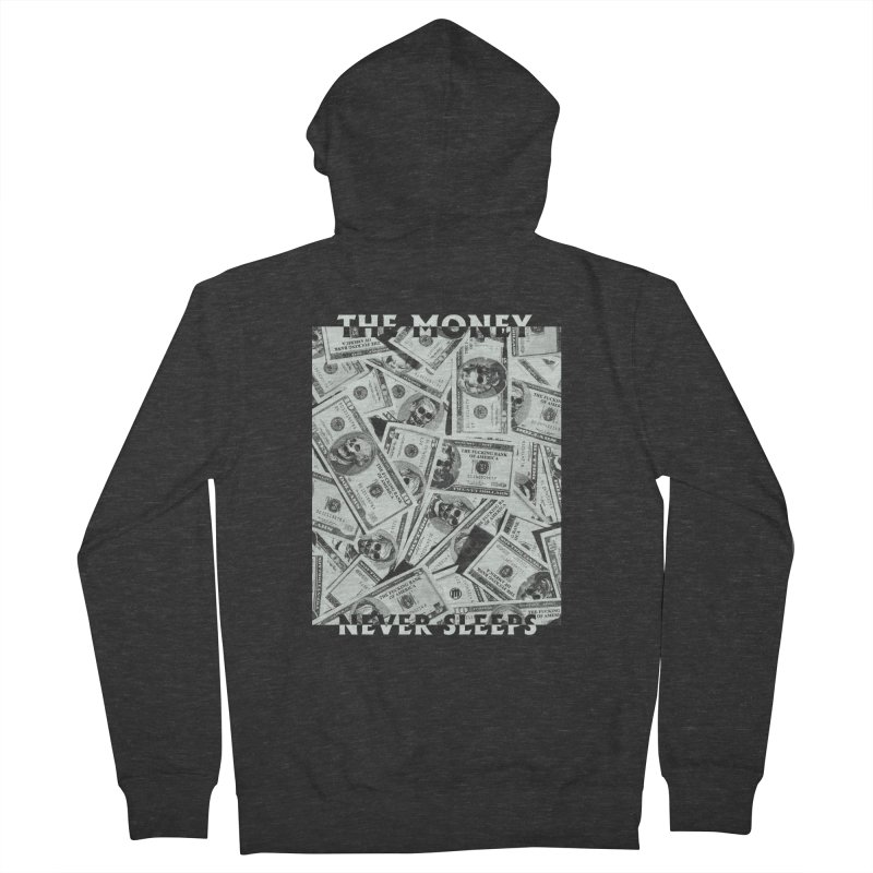 Never Sleeps Men's French Terry Zip-Up Hoody by MAXIMOGRAFICO — collection