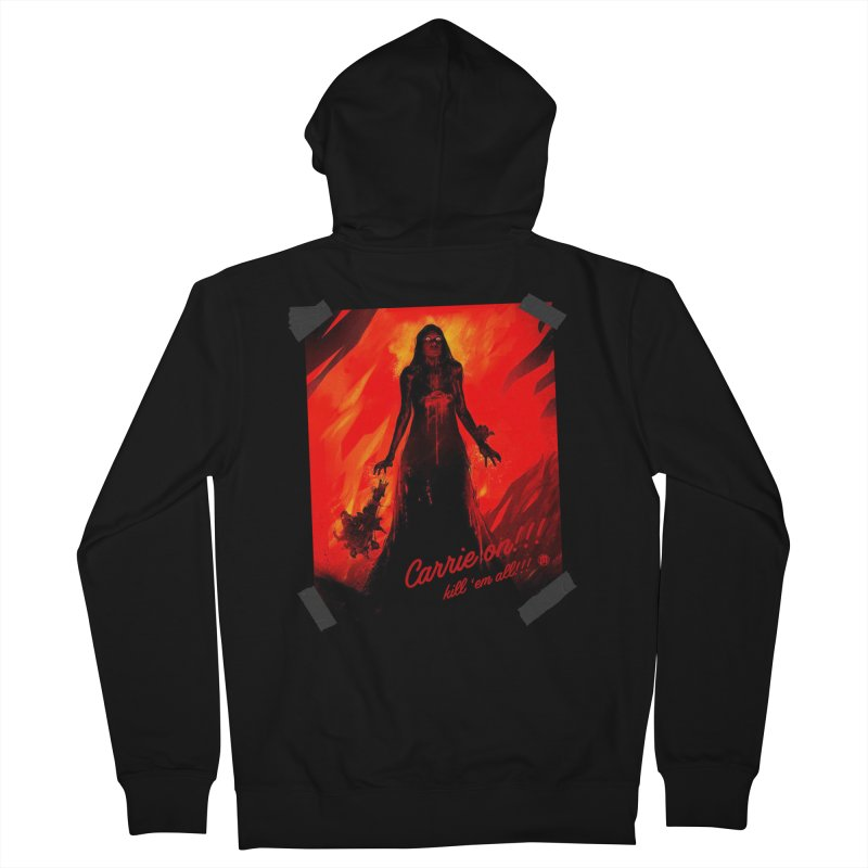 Carrie on!!! in Men's French Terry Zip-Up Hoody Black by MAXIMOGRAFICO — shop