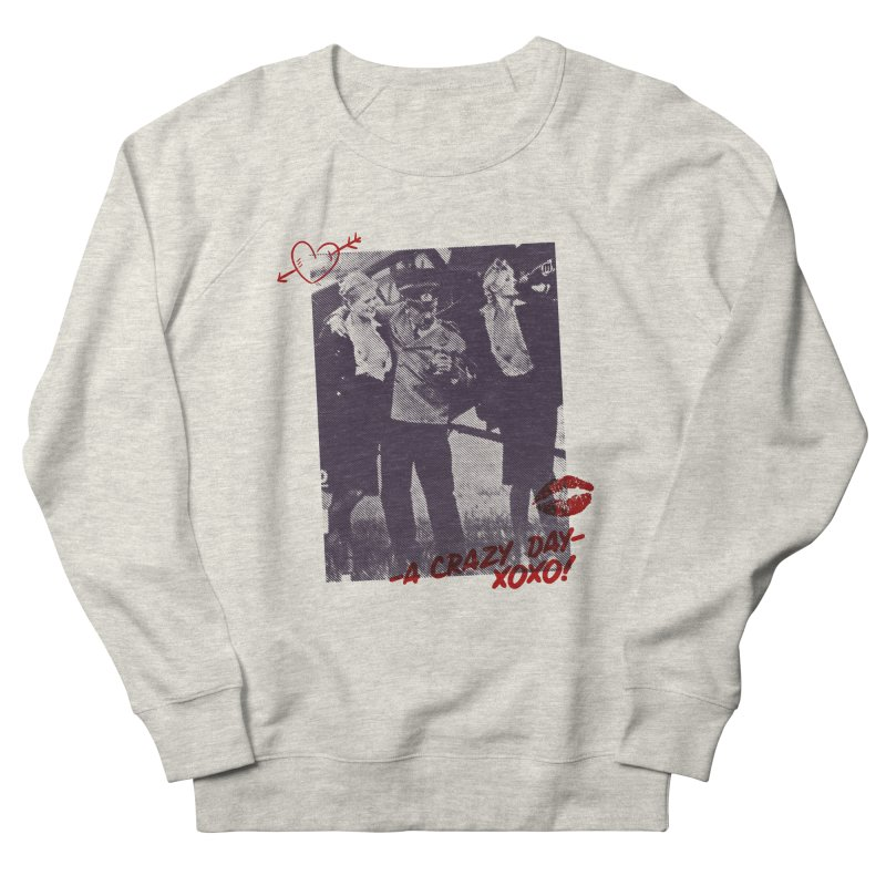 A Crazy Day in Men's French Terry Sweatshirt Heather Oatmeal by MAXIMOGRAFICO — collection