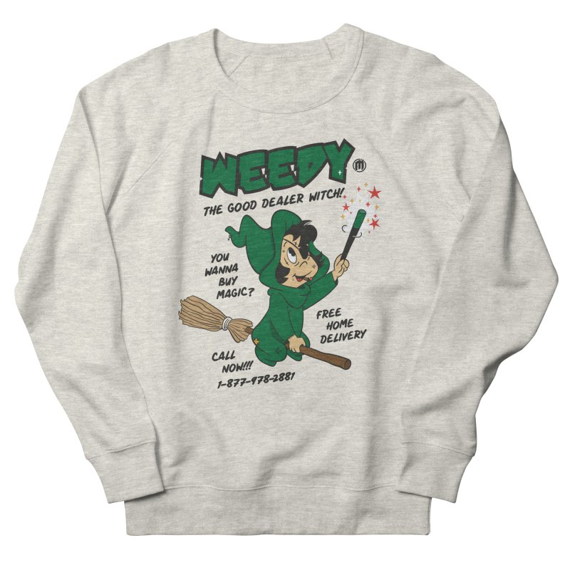 Weedy Women's French Terry Sweatshirt by MAXIMOGRAFICO — collection