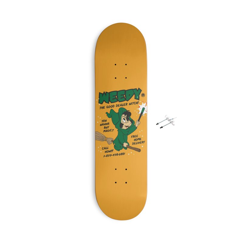 Weedy Accessories With Hanging Hardware Skateboard by MAXIMOGRAFICO — collection