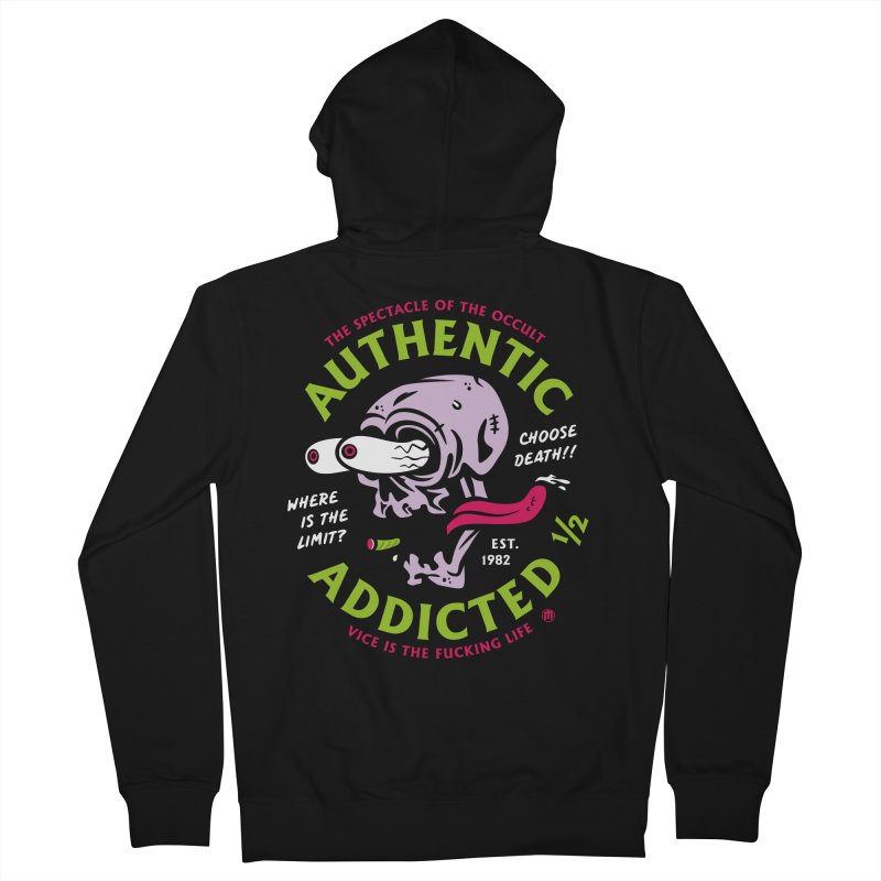 Authentic Addicted ½ Men's Zip-Up Hoody by MAXIMOGRAFICO — collection