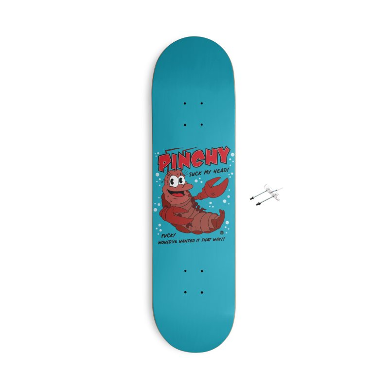 Pinchy Accessories With Hanging Hardware Skateboard by MAXIMOGRAFICO — collection