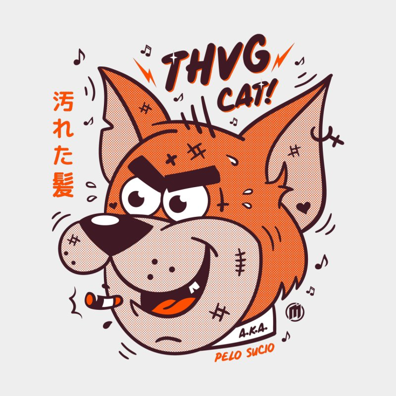 Thug Cat Men's Sweatshirt by MXM — collection