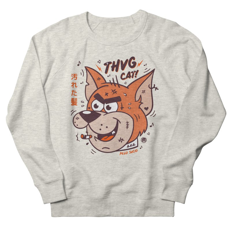 Thug Cat Women's French Terry Sweatshirt by MAXIMOGRAFICO — collection