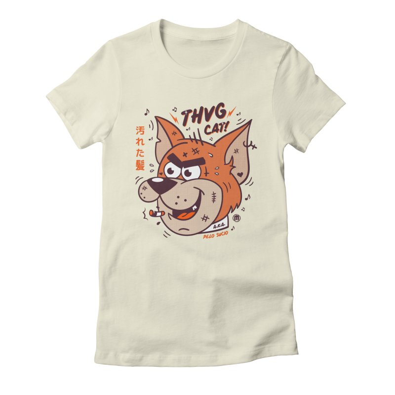 Thug Cat Women's Fitted T-Shirt by MXM — collection