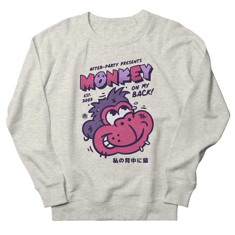 Monkey on my Back Men's French Terry Sweatshirt by MXM — collection