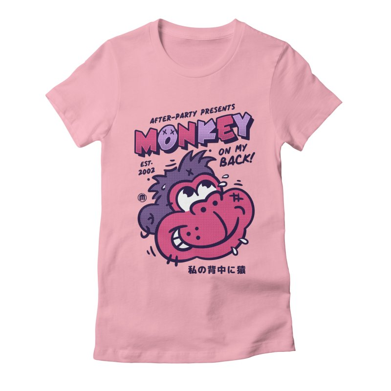 Monkey on my Back Women's Fitted T-Shirt by MXM — collection
