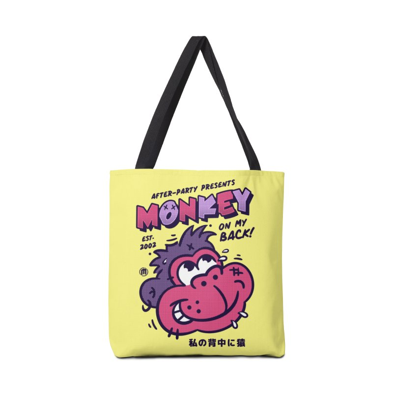 Monkey on my Back Accessories Tote Bag Bag by MXM — ltd. collection