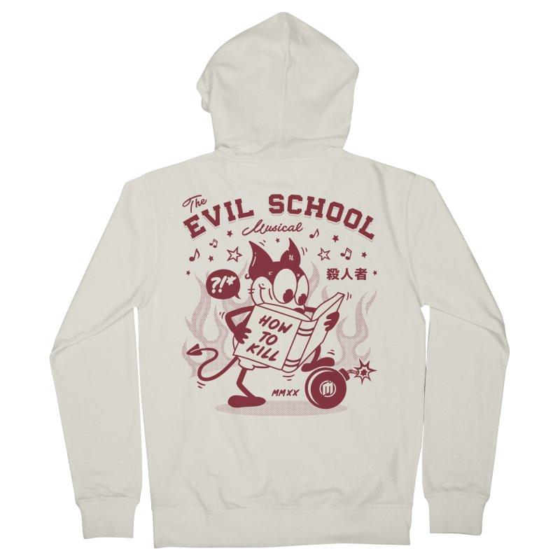 The Evil School Men's Zip-Up Hoody by MAXIMOGRAFICO Ltd. Collection