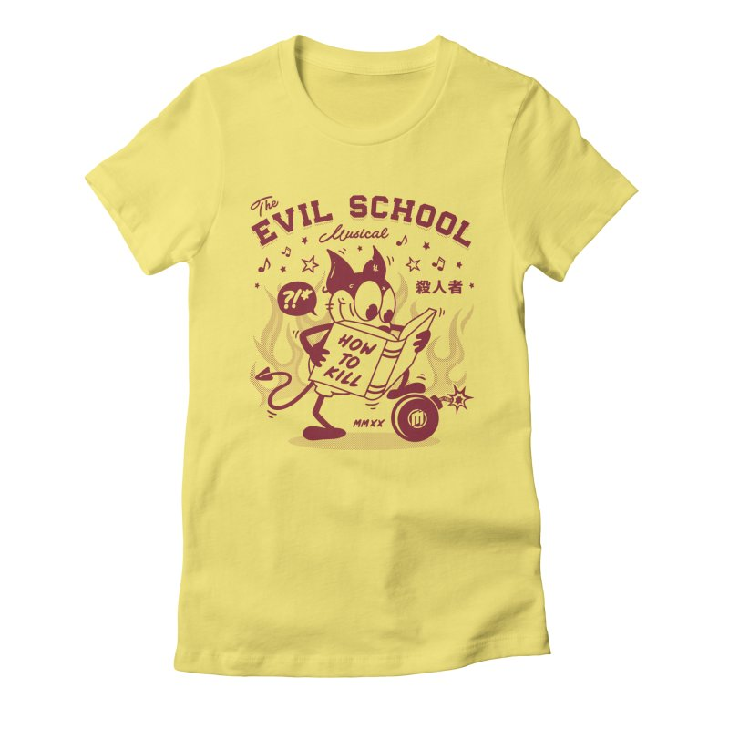 The Evil School fitted T-Shirt by MAXIMOGRAFICO Ltd. Collection