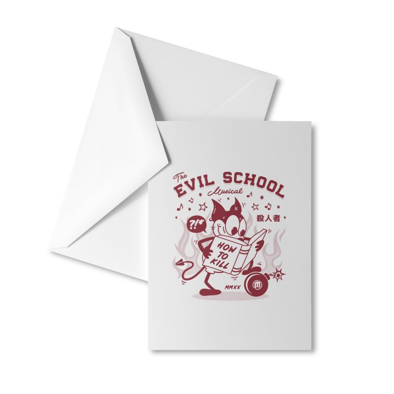 The Evil School skaters Greeting Card by MAXIMOGRAFICO Ltd. Collection