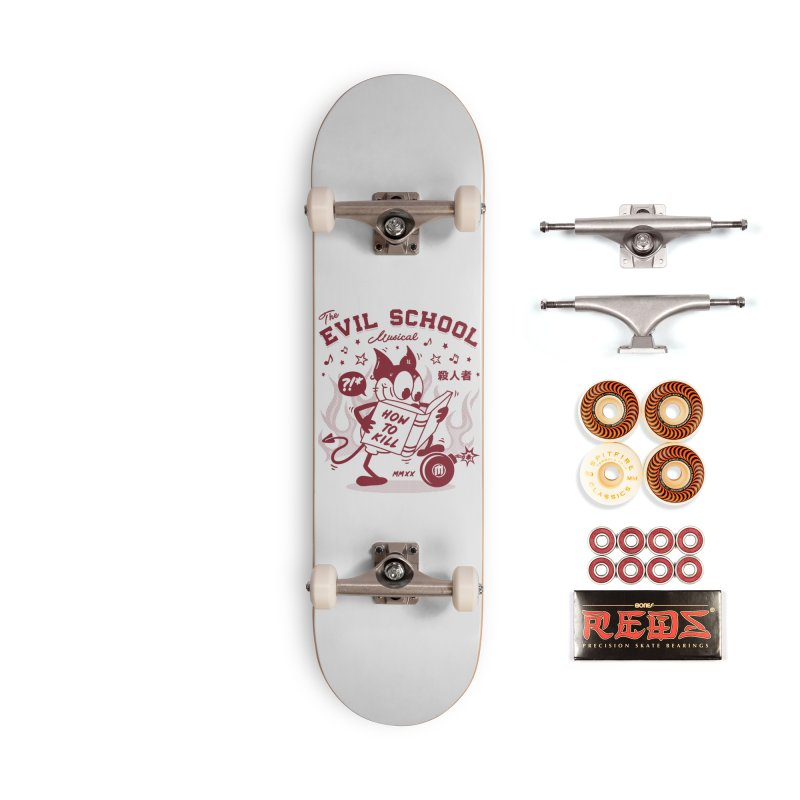 The Evil School skaters Skateboard by MAXIMOGRAFICO Ltd. Collection