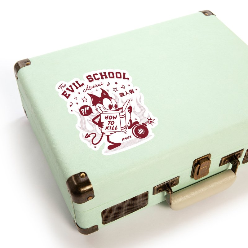 The Evil School Accessories Sticker by MAXIMOGRAFICO Ltd. Collection