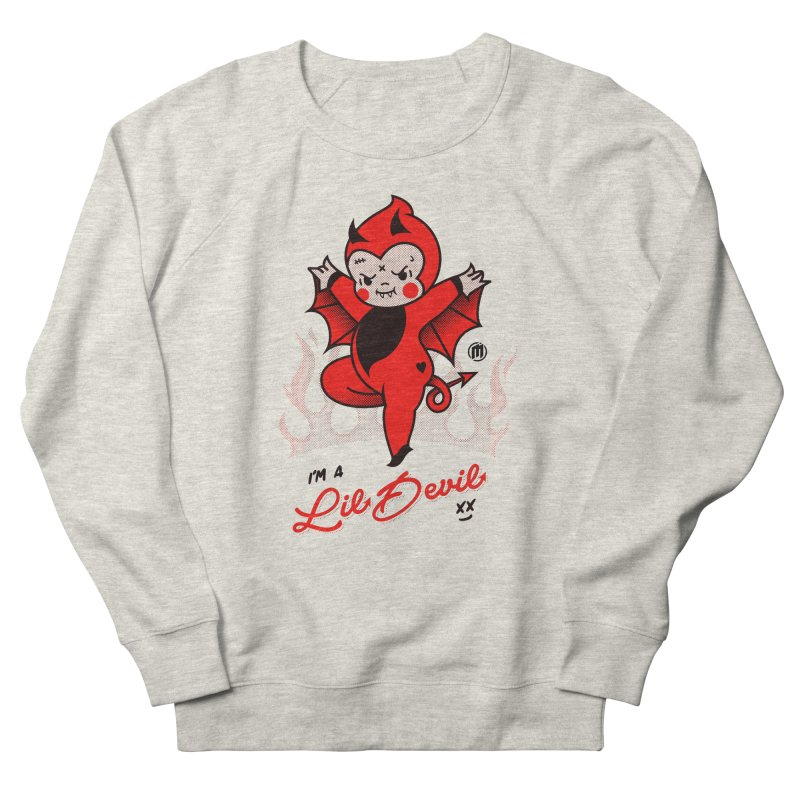 I'm a Lil Devil Women's French Terry Sweatshirt by MXM — ltd. collection