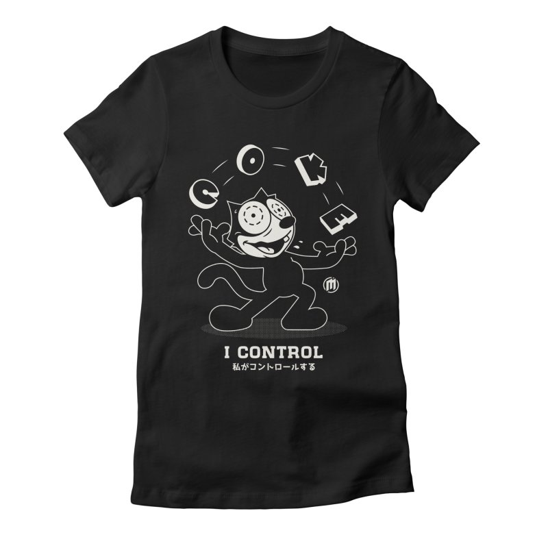I Control in Women's Fitted T-Shirt Black by MXM — ltd. collection